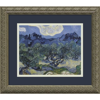 Vincent van Gogh 'Olive Trees with the Alpilles in the Background, Saint-Remy 1889' Framed Art Print