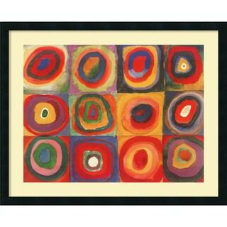 Wassily Kandinsky 'Farbstudie Quadrate, 1913' Framed Art Print