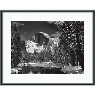 Ansel Adams 'Half Dome, Winter - Yosemite, 1938' Framed Print