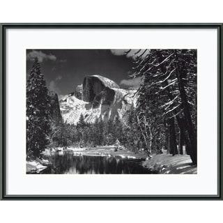Ansel Adams 'Half Dome, Winter - Yosemite, 1938' Framed Print