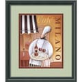 Jo Parry 'Cafe Milano Framed' Art Print