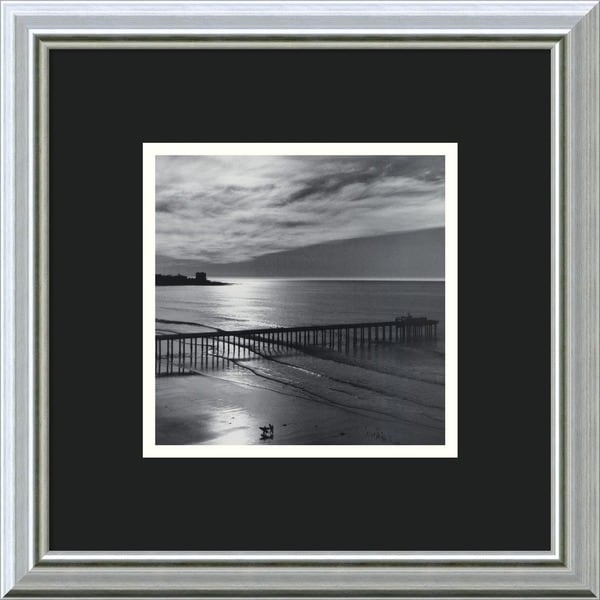 Ansel Adams 'The Scripps Pier, 1966: Fiat Lux' Framed Art Print