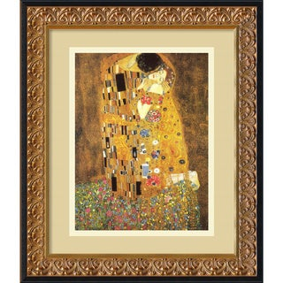 Gustav Klimt 'The Kiss, 1907' Framed Art Print