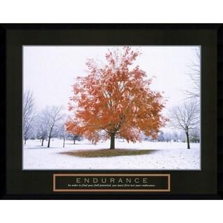 Endurance - Fall Tree' Framed Art Print
