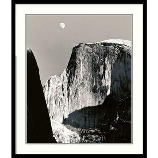 Ansel Adams 'Moon Over Half Dome' Framed Art Print