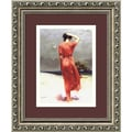 Casual Pino 'Beachside Stroll' Framed Art Print