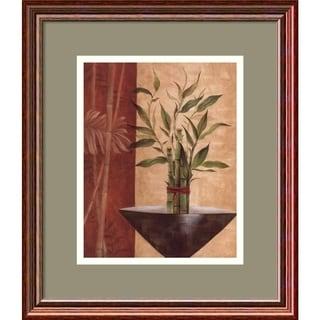 Eugene Tava 'Lucky Bamboo I' Framed Art Print