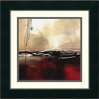 Laurie Maitland 'Symphony in Red and Khaki l' Framed Matted Art Print