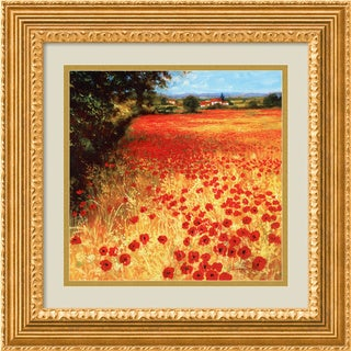 Steve Thoms 'Field of Red and Gold' Framed Art Print