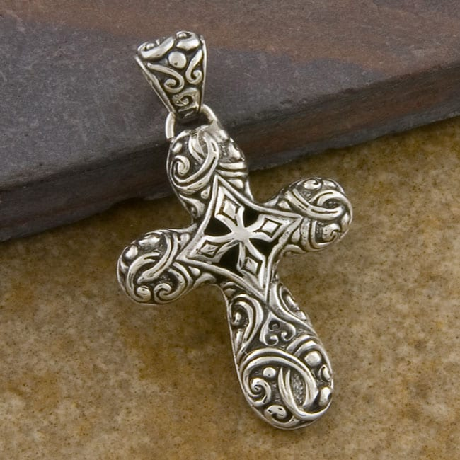 Sterling Silver 'Cawi' Cross (Indonesia)