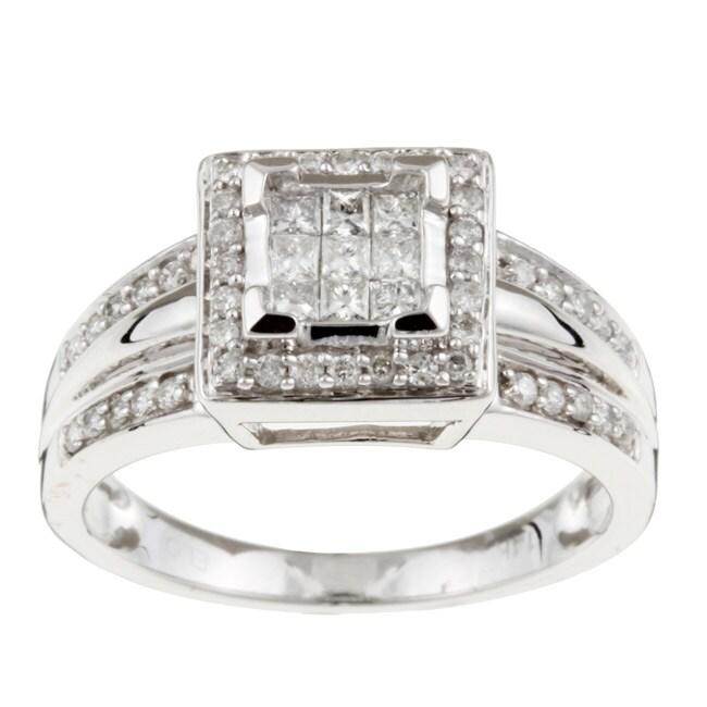 Eloquence 14k White Gold 1/2ct TDW Diamond Ring (G-H, I3)
