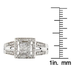 14k White Gold 1/2ct TDW Diamond Ring (G-H, I3)