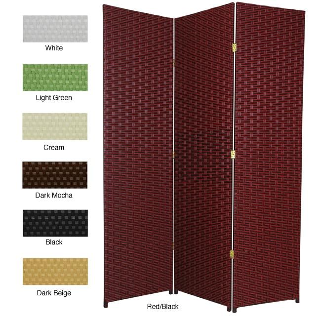 Woven Fiber 6-foot 3-panel Room Divider (China)
