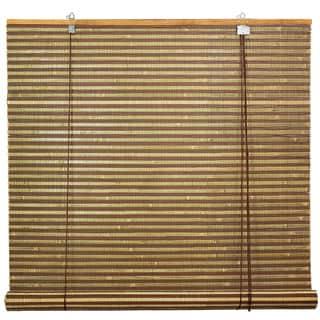 Burnt Bamboo 24-inch Roll-up Window Shade (China)
