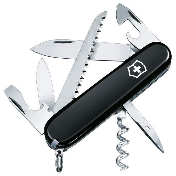 Victorinox Swiss Army Black Camper Pocket Knife