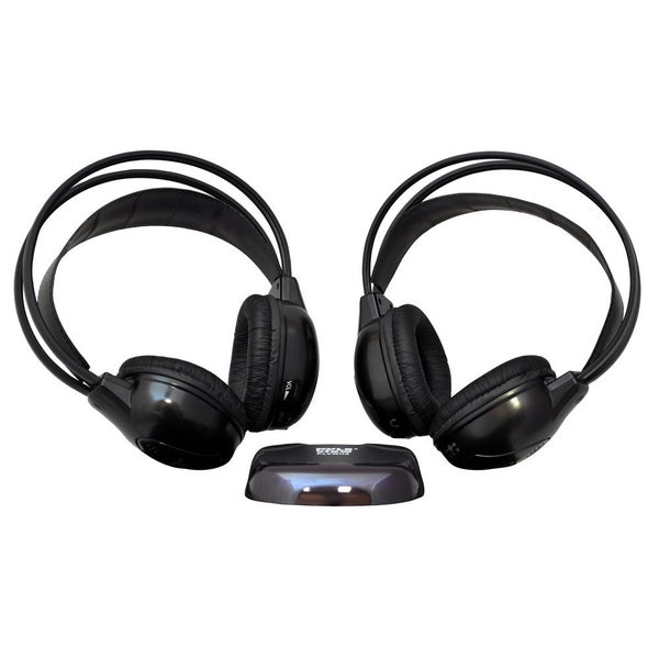 Pyle Dual Wireless IR Mobile Video Stereo Headphones w/Transmitter (P