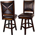 X-back Swivel Counter Stools (Set of 2)