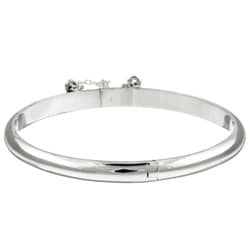 Sterling Essentials Sterling Silver 6-inch Tween Bangle Bracelet