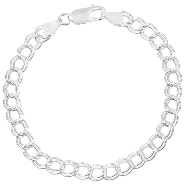 Sterling Essentials Sterling Silver 7-inch Classic Charm Bracelet
