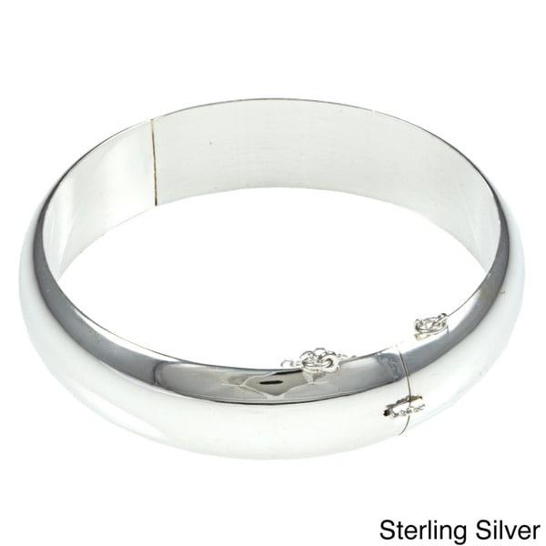 Sterling Essentials Silver 7-inch Polished Bangle Bracelet (15mm)