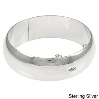 Sterling Essentials Silver 7-inch High Polish Bangle Bracelet (20 mm)