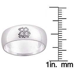 Sterling Silver Marci Sisters Message Ring