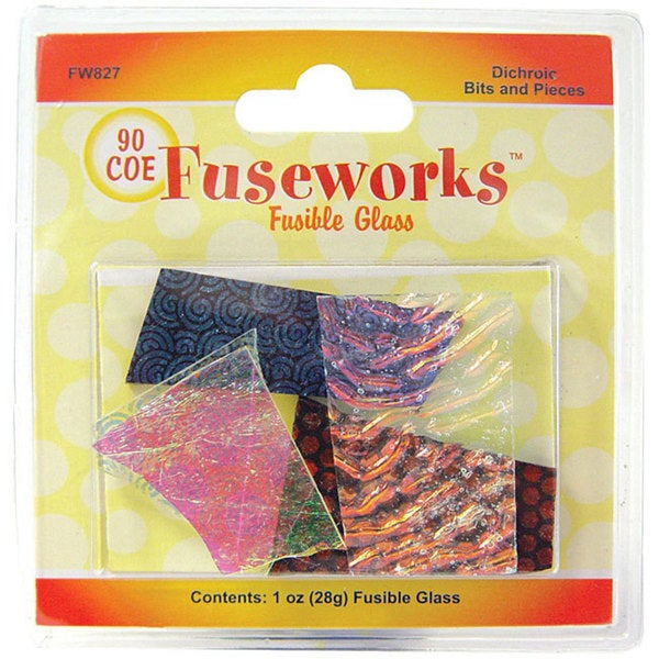 Fuseworks Dichroic Glass Bits and Pieces Assortment (One Ounce)