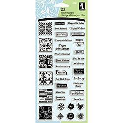 Inchies 'Greetings' 4x8-inch Clear Stamp Sheet