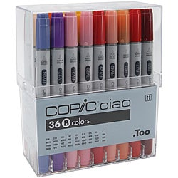 Copic Ciao 36-piece Marker Set (Set B)