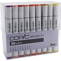 Copic Sketch 36 Basic Colors Marker Set