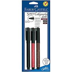 Faber-Castell Pitt Calligraphy Pens (Set of 3)