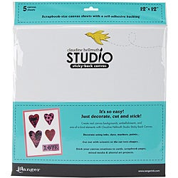 Claudine Hellmuth Studio White Canvas Sheets (Set of 5)