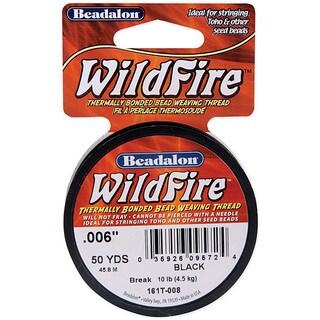 Wildfire Black Bead Weaving Thread