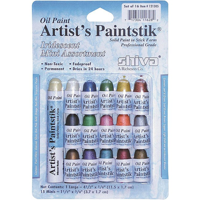 Shiva Artist 39 S Paintstik Iridescent Oil Mini Stick Assortment Overstock Shopping The Best