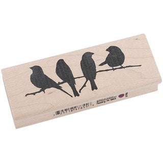 Inkadinkado 'Birds on a Branch' Rubber Stamp