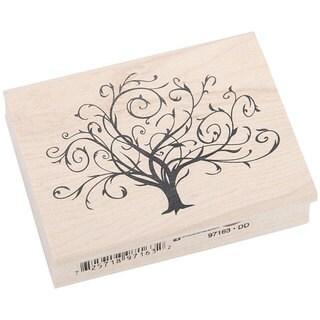 Inkadinkado 'Flourished Fall Tree' Rubber Stamp