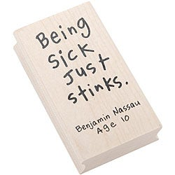 Inkadinkado 'Sick Stinks' Kid Quote Rubber Stamp