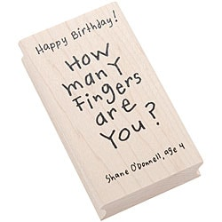 Inkadinkado Kid Quotes Rubber 'Birthday' Stamp