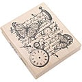 Inkadinkado 'Time Flies Collage' Rubber Stamp