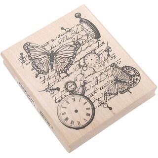 Inkadinkado 'Time Flies Collage' Rubber Stamp