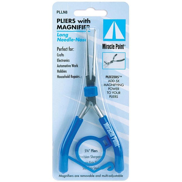 Miracle Point Magnified 5.75-inch Needle-nosed Pliers