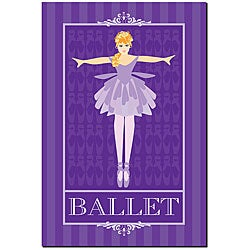 Grace Riley 'Ballet in Blue I' Framed Canvas Art