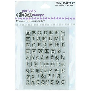 Stampendous 'Typewriter Alphabet' Clear Stamps