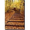 Kurt Shaffer 'Fall Stairway' Gallery-wrapped Art