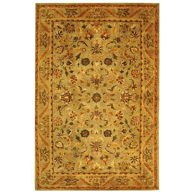 Safavieh Handmade Antiquities Kasadan Olive Green Wool Rug (5' x 8')