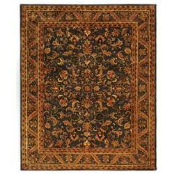 Safavieh Handmade Exquisite Blue/ Gold Wool Rug (7'6 x 9'6)