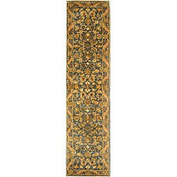 Safavieh Handmade Exquisite Blue/ Gold Wool Runner (2'3 x 10')