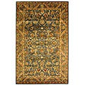 Safavieh Handmade Exquisite Blue/ Gold Wool Rug (5' x 8')