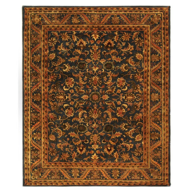Safavieh Handmade Exquisite Blue/ Gold Wool Rug (9'6 x 13'6)