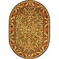 Safavieh Handmade Antiquities Kerman Charcoal Green Wool Rug (4'6 x 6'6)